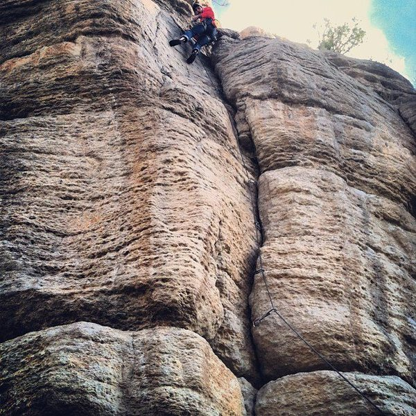 Rock Climbing Photo: On the anchors of cracker jack 10d cant see the st...