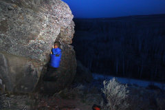 Night Bouldering at Badger Creek