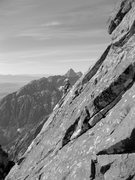 Rock Climbing Photo: Following one of the middle pitches. View north to...