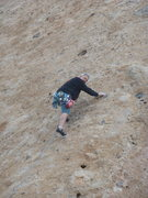 """Rock Climbing Photo: Working up the slab past the last bolt on """"Sh..."""