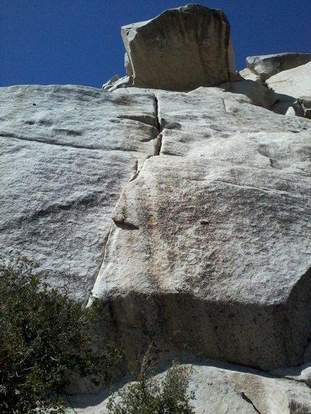 Rock Climbing Photo: Kon-Kushin Krak.  Obvious crack in the center of R...