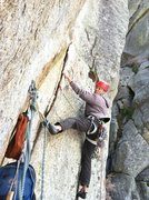 Rock Climbing Photo: Off of pitch 1 belay.