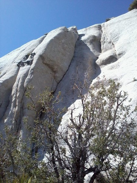Rock Climbing Photo: Johnson's Jump 5.9.  Two variations exist for a se...
