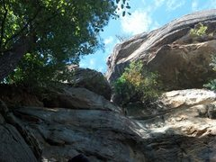 Rock Climbing Photo: Viewed from below Out of My Way.
