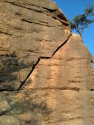 Rock Climbing Photo: Top of the 2nd pitch.