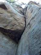 Rock Climbing Photo: The roof and off-width.