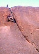 Rock Climbing Photo: Upper crux