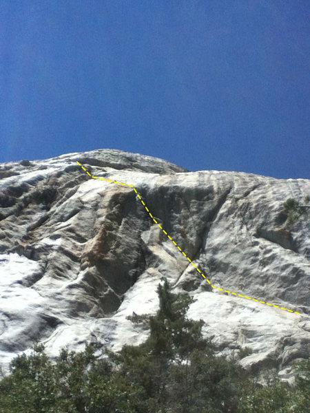 Rock Climbing Photo: Follow the corner.