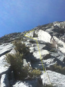Rock Climbing Photo: After the gully dissipates follow the left facing ...