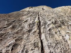 Rock Climbing Photo: P4 slab groove