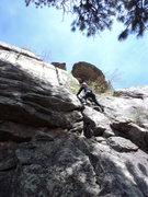 Rock Climbing Photo: Deb enjoys the lower section.