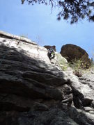 Rock Climbing Photo: Double Gaston or real offwidth technique, your cho...