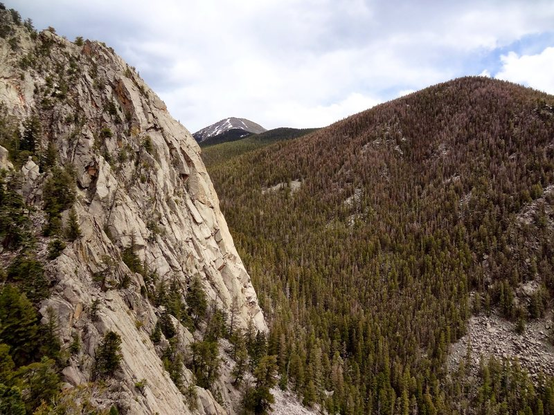 Rock Climbing Photo: Questa Dome in profile from the summit above The L...
