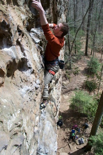 Rock Climbing Photo: Garrett on Sunshine
