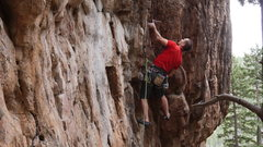 Rock Climbing Photo: Unknown climber, climbing with Eric Schmeer?