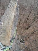 Rock Climbing Photo: The fin of Jolt/Dolt. Taken April 2011