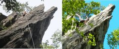 "Rock Climbing Photo: Jolt ""before and after"" the May 2013 roc..."