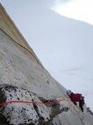 Rock Climbing Photo: Adrienne Kentner following P1 of The Jester 5.10. ...