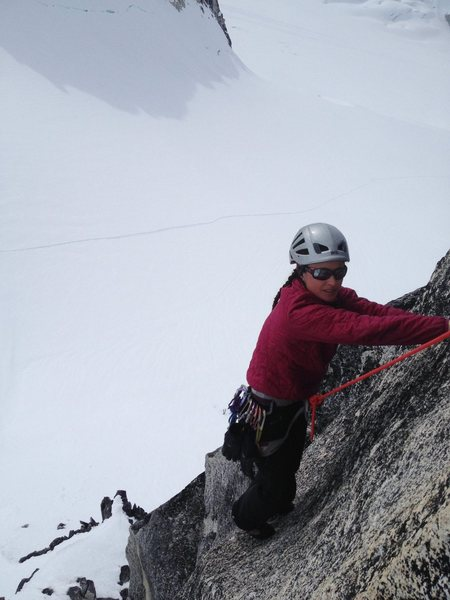 Rock Climbing Photo: Adrienne Kentner topping out on the West Face of T...