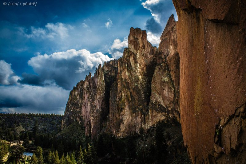 Rock Climbing Photo: About to start the slab. Amazing photo by Shay Ski...