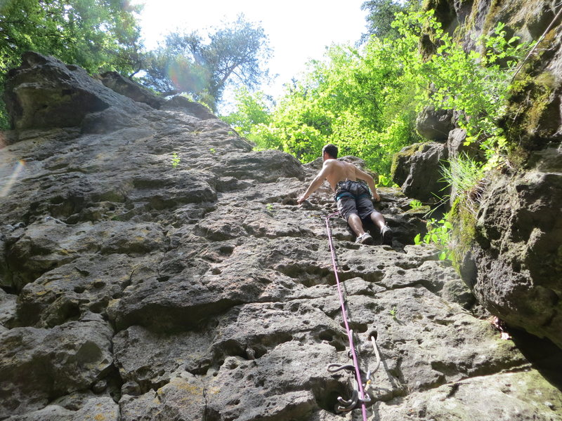Rock Climbing Photo: Me enjoying the sun in Kleine Platte.