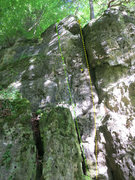 Rock Climbing Photo: The two left-most routes: Graue Platte and Kleiner...