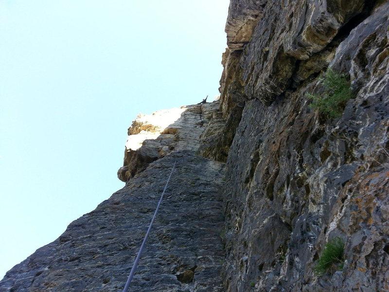 Rock Climbing Photo: Finishing the Onsight of Emotional Geometry (5.10a...