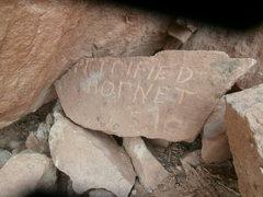 Rock Climbing Photo: the plaque