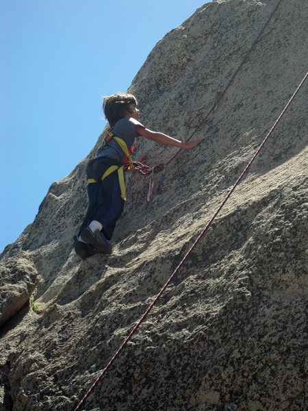Bryn (9) on slabs.