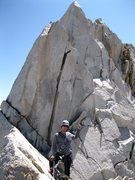 Rock Climbing Photo: Part of the class 3-4 summit ridge.