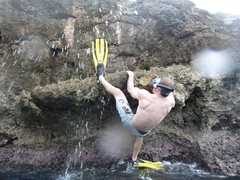 Rock Climbing Photo: Haiti Snorkling and Climbing lol