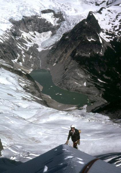 Near the top of the N ridge