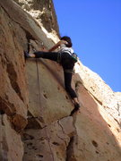 Rock Climbing Photo: Past the thin fingers, Shae Griffin starts up the ...