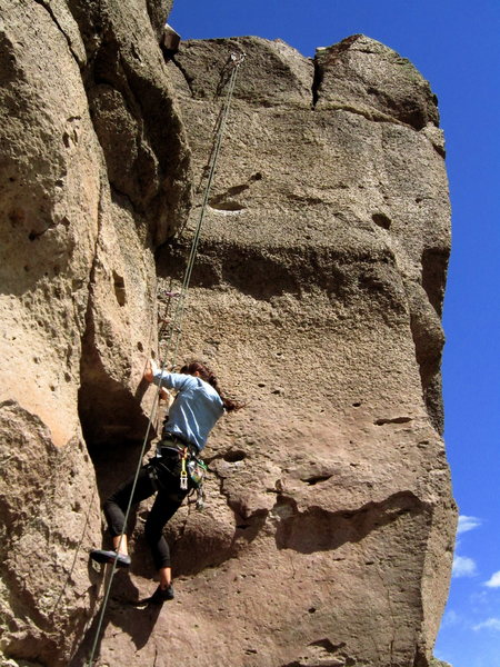 Rock Climbing Photo: Shae Griffin at the second of two cruxes.