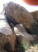 """Rock Climbing Photo: """"What day it is"""" starts on the boulder s..."""
