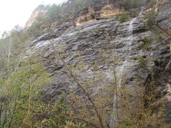 Rock Climbing Photo: Black Betty meets Aunt Flow.  Routes are to the le...