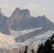 Rock Climbing Photo: The South Face of Inspiration Peak