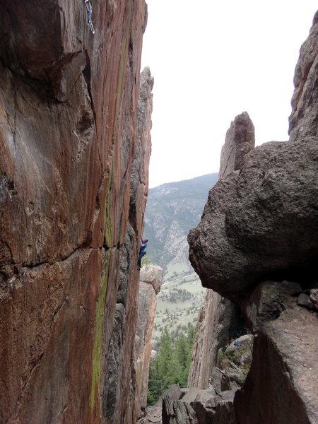 Rock Climbing Photo: Michael Morrin on Third Millenium.