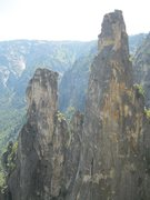 Rock Climbing Photo: Lower and Higher Cathedral Spires