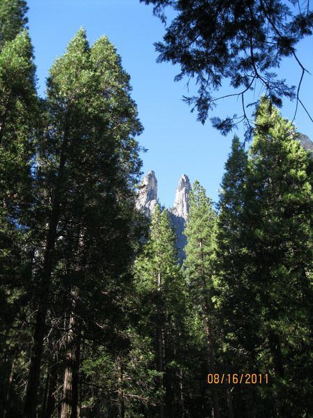 Rock Climbing Photo: Lower and Higher Cathedral Spires.