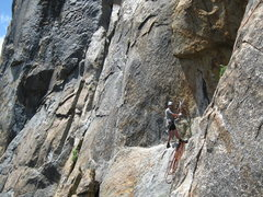 Rock Climbing Photo: I stopped short on the pitch 5 traverse. Don't do ...