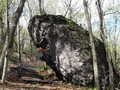 Rock Climbing Photo: Aaron on the FA of Recluse
