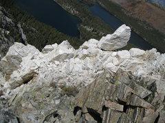 Rock Climbing Photo: Crystals near summit.