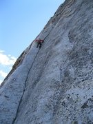 Rock Climbing Photo: Looking up from Crescent Ledge.