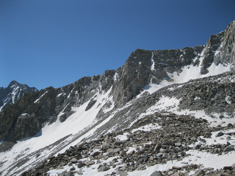Looking left of the North Buttress