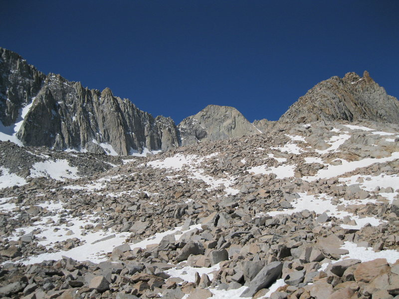Rock Climbing Photo: Looking right of the North Buttress
