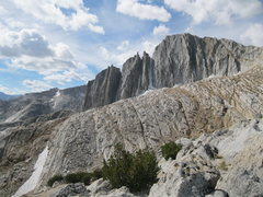 Rock Climbing Photo: North Face of North Peak as seen from the start of...