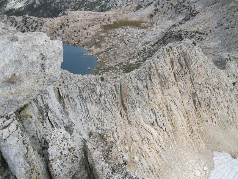 Higher up the Northwest Ridge.