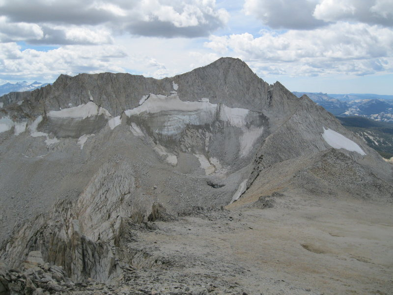 North and East Ridges of Conness seen from North Peak.