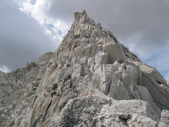 Rock Climbing Photo: Start of class 3 on the North Ridge.
